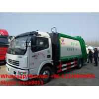 Best 2018s best price dongfeng 4*2 LHD/RHD 120hp diesel 7m3 6tons garbage compactor truck for sale,compression garbage truck wholesale