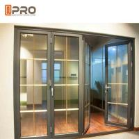 Best Horizontal Aluminum Folding Doors For Kitchen With Double Tempered Glass wholesale