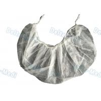 Buy cheap Single / Double Elastic Disposable Surgical Caps , Non Woven White Surgical from wholesalers