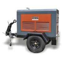Quality Mining or Railway 35KW  Portable Diesel Air Compressor / Industrial Screw Air Compressors wholesale