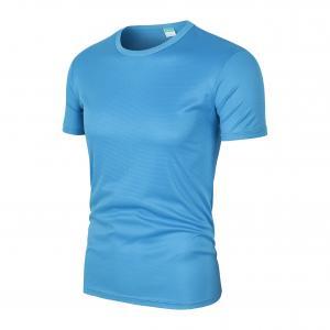 Best Men Sport Running Mesh Athletic Black Printing Custom Quick Dry T Shirts wholesale