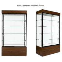 Best Multi Colored Frame Wood And Glass Display Case , Lockable Glass Showcase Cabinet wholesale