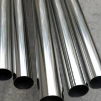 Best 40 G - 300 G Cold Rolled Steel Tube , Silver White 304 Stainless Steel Round Pipe wholesale