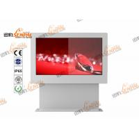 Quality Samsung / LG Outdoor LCD Floor Stand Digital Signage IP65 2000nits Brightness wholesale