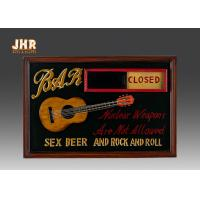 Best Open And Close Signs Special Wooden Wall Plaques For Shops wholesale