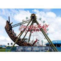 Best Outdoor Thrilling Swinging Pirate Ship Ride , FRP Material Pirate Ship Attraction wholesale