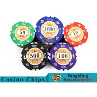 Best Sticker Pure Casino Poker Chip Set With UV Logo , Ceramic Poker Chip Sets  wholesale