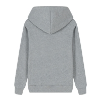 Best Custom Logo Soft Cotton French Terry Customized Print Embossed Zip Pullover Hoodies For Unisex Grey Color wholesale