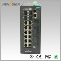 Quality Fast 28 Port Switch , Fanless Gigabit Switch 14 electric port + 4 FX +4 Gigabit SFP FX Fiber optical wholesale