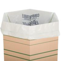 China 33 Gallon 33 X 39 Compostable Trash Can Liners 1 Mil LDPE Material White Colour on sale
