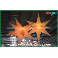 Quality Nylon Advertising LED Star Balloon Outdoor Inflatable Decorations WIth CE / UL Blower wholesale