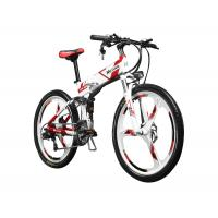 China 26 inch Folding Mountain Electric Bike With Suspension and Shimano Derailleur on sale