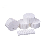 wholesale small hospital surgical medical use disposable absorbent 100% dental cotton wool roll for sale