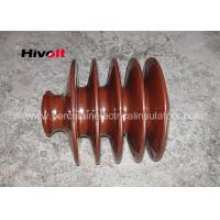 Quality Distribution Lines 33kv Pin Insulator With Zinc Thread Brown BS Standard wholesale