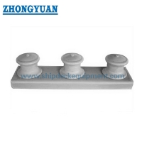 JIS F 2014 Casting Steel Plate Fabricated Rollers Shipside Open Type 3 Rollers Fairlead Ship Mooring Equipment for sale