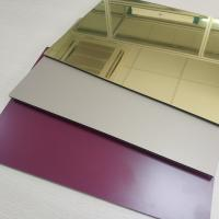 Best High Reflective Rate Aluminum Mirror Sheet Glass Processing Anodized Stable wholesale