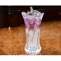Best Lead Free Galle Glass Vase Machine Made Diamond Designer House KTV Hotel wholesale