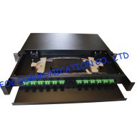 Buy cheap Drawer Type Fiber Optic Distribution Box 1U 12Ports Full Loaded With SC Pigtail from wholesalers