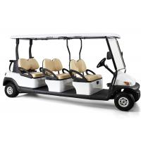 Best White Four Wheels 6 Person Golf Cart , Road Legal Golf Buggy With Long Roof wholesale