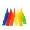 PE Plastic Training Cones , 18cm 23cm 32cm 38cm 48cm Football Space Markers for sale