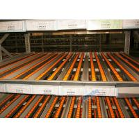 Quality Dynamic Carton Flow Rack / Pallet Flow Rack Systems With Inclined Rollers wholesale