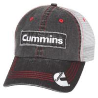 Buy cheap Denim Black Frayed Mesh Trucker Hats With Distressed Semi Diesel Ball Vented from wholesalers