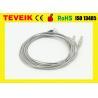Best DIN1.5 socket EEG Medical Cable, Silver Plated Copper Electrode wholesale