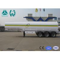Best Sinotruk Howo Carbon Steel Tri - axle crude oil trailers One Compartment Emergency Valve wholesale