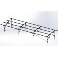 China Steel Solar Panel Ground Mounting Systems Bracket Photovoltaic 1.4KN/m2 Max Snow Load on sale