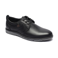 China Antiodor Mens Black Leather Casual Shoes 44 45 46 Size for sale