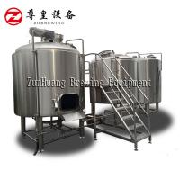 Best 1500l 2000l Micro Beer Brewery Equipment Vertical Turnkey Brewing System wholesale