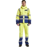 China Offshore Hivis Rain Proof Workwear Electric Preventing Coat for sale