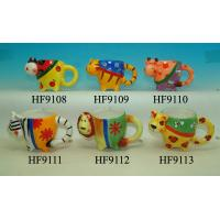 Cheap Cartoon Custom Ceramic Mugs Sublimation Cups Animal Heads For For Souvenir for sale