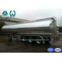 Best Stainless Steel Fuel Tank Semi Trailer 3 Axles 60000 Liters With Mechanical Suspension wholesale