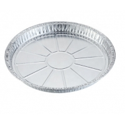 Pizza Pan ISO9001 Plain 0.01mm Aluminium Food Tray for sale