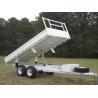 Quality Cusotm Color Steel 10x6 Hydraulic Tipper Trailer , Single Axle Tipper Trailer Australian Standard wholesale