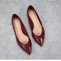China Comfortable Arch Support Flat Heeled Shoes Casual Snake Effect Leather for sale