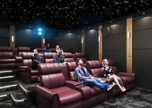 Best Electric Leather Sofa Home Theater With Surround Speaker Subwoofer Projector wholesale