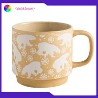 China Custom Logo Silkscreen Coffee Mugs Stone Ware Food Contact Safe 400ml Capacity on sale