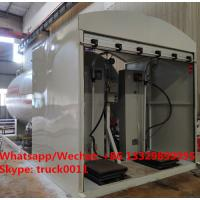 China 2021s new 5tons Skid LPG Filling Plant for home cylinders for sale,skid-mounted lpg gas tank with electronic scales for sale