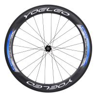 2016 Yoeleo Blue Carbon Clincher 60mm Bike Wheels With Novatec A291/F482 Hubs Sapim Spokes,Triathlon Bike*