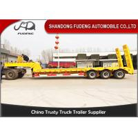 Quality 40 ton Gooseneck Lowbed semi Trailers low load truck trailer sale Three axle wholesale