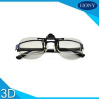 Quality Clip Type Plastic Circular Polarized 3d Glasses For Tvs , Anti Glare wholesale