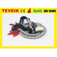 Best Waterproof EEG Cable with Crocodile Clip / Red Cover ,DIN 1.5mm socket wholesale