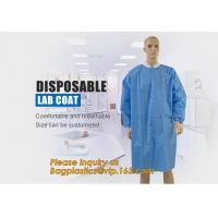 Disposable Isolation Non- Woven Gown,Disposable Hospital Non woven Medical White Lab Coat,Disposable Industrial Overall for sale