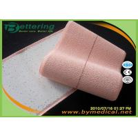 Light Brick Red Colour 100% Cotton Elastic Adhesive Bandage  Wrist Protection Fixation Tape with Feather Edge for sale