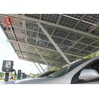 Best 3.0KWp Solar Car Charging Station , Solar Car Parking Shed 2.5m~4m Height wholesale