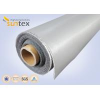 Best 0.3 Mm Thick Blue And Black Color Silicone Fiberglass Cloth Safety Curtain Fabric wholesale