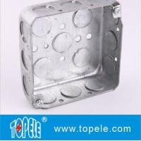 Quality TOPELE 52151 / 52161 / 52171 Galvanized Steel Square Electrical Outlet Box wholesale