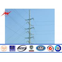 Buy cheap ISO 69 KV Polygonal Electric Power Pole 2 Sections from wholesalers
